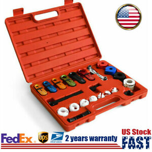 Fuel A c Line Disconnect Tool Spring Lock Couplering Set For Ford Gm Car