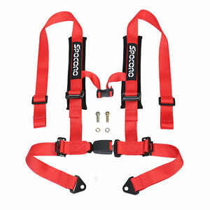 Spocoro 2 4 Point Buckle Racing Safety Harness Seat Belts For Utv atv red