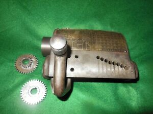 9 South Bend Lathe Quick Change Gear Box Model A For Parts
