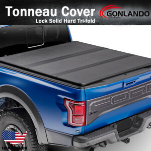 Fits 2009 2018 Dodge Ram 1500 Hard Holid Tri fold Lock Tonneau Cover 6 5ft Bed