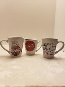 3 Gibson Coca Cola Mugs 2 with Polar Bear and 1 with Logo