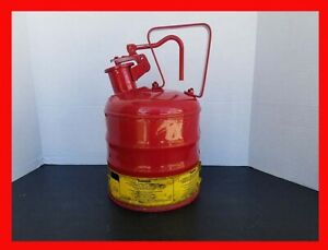 Justrite Mfg Safety Can 1 One Gallon Gas Can Handle Dispenser Very Nice