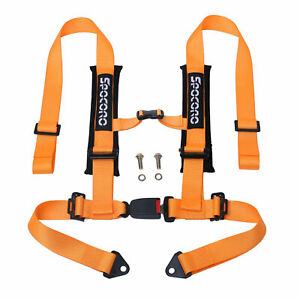 Spocoro 2 4 Point Buckle Racing Safety Harness Seat Belts For Utv atv orange