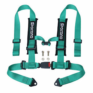 Spocoro 2 4 Point Buckle Racing Safety Harness Seat Belts For Utv atv green