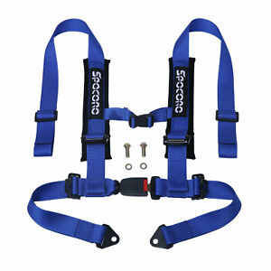 Spocoro 2 4 Point Buckle Racing Safety Harness Seat Belts For Utv atv blue