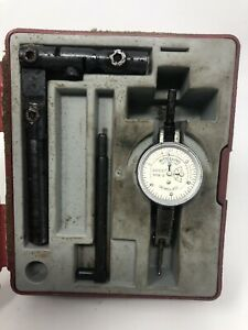 Interapid 311b 2 Dial Test Indicator Machinist Tool Maker Case Switzerland As Is