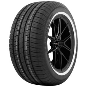 4 P215 75r15 Milestar Ms775 Tour 100s White Wall Tires
