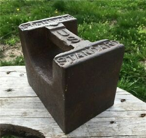 50 Lb Us Standard Platform Scale Weight Doorstop Hitching Post Anvil Swage A13