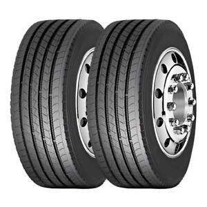 2 Tires 285 75r24 5 Amulet Truck Tire Af508 All Position 16 Ply 2857524 5