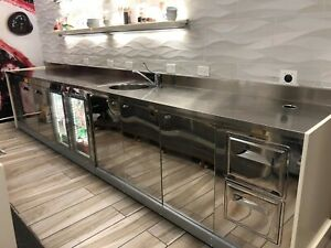 Stainless Steel Counter For Restaurant Bar Coffee Bar Ice Cream