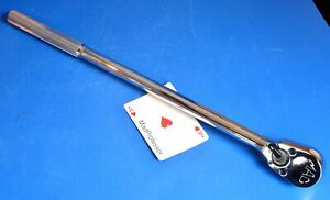 Mac Tools 1 2 Drive 17 Long Knurled Handle Pear head Socket Wrench Ratchet New