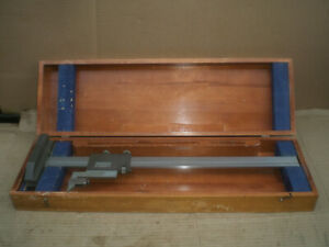 Brown And Sharpe No 586 Vernier Height Gage 19 With Wood Box