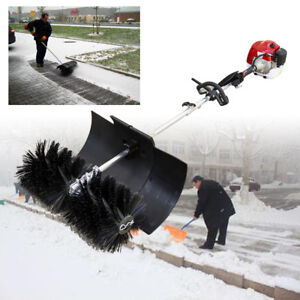 Sweeper Gas Power Handheld Power Lawns Driveway Cleaning Snow 52cc 2 stroke Us
