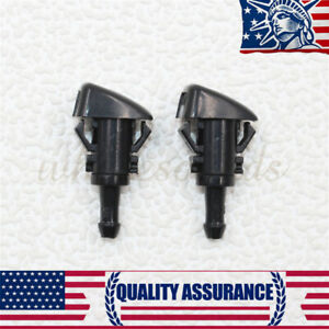 2 Pcs New Windshield Washer Nozzle Sprayer Jet 5303834ab Fits For Jeep Patriot