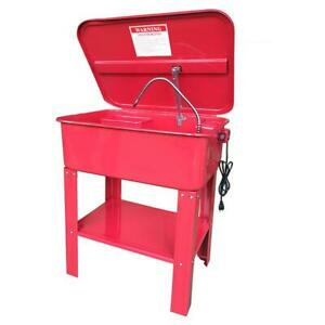 20 Gallon Automotive Mobile Parts Washer Cart Electric Solvent Pump Cleaner