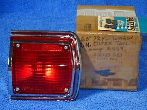 1965 1966 Plymouth Fury Station Wagon Tail Lamp Nos