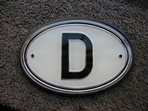 Wegu D Plate Country Badge Accessory Mercedes Mb Bmw Vintage Vw Bug Bus Perohaus