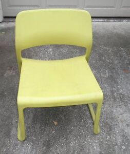 Knoll Spark Series Plastic Stacking Modern Lounge Chair By Don Chadwick Citron