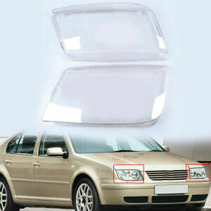 Pair Headlight Lens Cover Diy New Durable For Vw Bora Jetta A4 1j 1999 2005