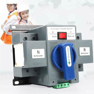 2p 63a Dual Power Automatic Transfer Switch For Generator Changeover Switch 110v
