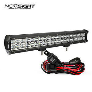 Led Work Light Bar Spot Flood Roof Lights Driving Lamp Offroad Car Truck Suv Atv