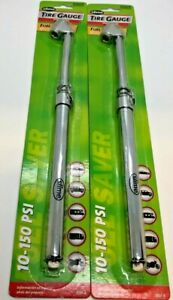 Lot Of 2 Slime Tire Gauge Dually Rv Suv Truck 10 150 Psi New