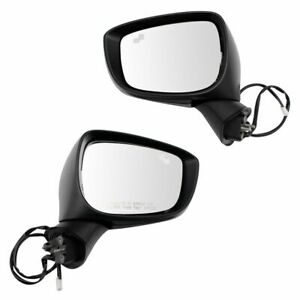 Exterior Mirror Set Lh Rh Sides Power Turn Signal Blind Spot For Mazda Cx3