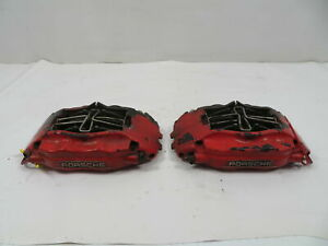 87 Porsche 928 S4 1123 Brake Caliper Pair Front Brembo 944 Turbo S 951