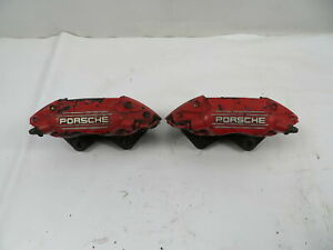 87 Porsche 928 S4 1123 Brake Caliper Pair Rear Brembo 944 Turbo 951