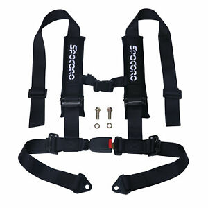 Spocoro 2 Inch 4 Point Buckle Racing Safety Harness Seat Belts For Utv atv black