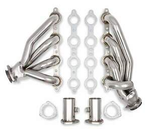 Flowtech Polished Short Tube Ss Exhaust Headers For Chevy S 10 Pickup 1982 1993