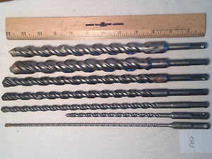 7 Bosch Ansi Sds Plus Carbide Tipped Drill Bits 3 16 To 7 8 S4l German F852