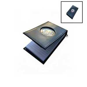 The Official Writing Pad Us Navy Spiral Notebook Case W Medallion 3 X 5