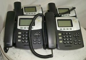 Lot Of 4 digium D40 1teld040lf Ip Phone See Notes