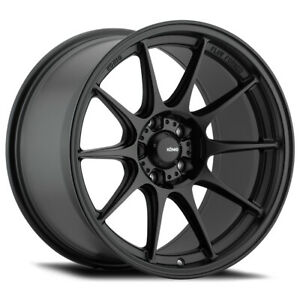 4 Konig 57b Dekagram 19x8 5 5x4 5 43mm Matte Black Wheels Rims 19 Inch