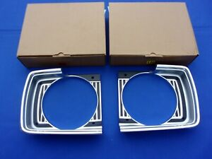 New 1967 Dodge Dart Headlamp Bezel Pair Lh Rh Mopar Licensed Oer