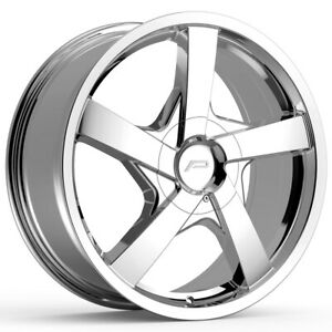 4 pacer 791c Essence 17x7 5 5x110 5x115 42mm Chrome Wheels Rims 17 Inch