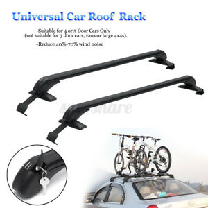 Universal 41 aluminum Top Roof Rack Cross Bar Luggage Carrier For Car 4dr