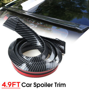 4 9ft Rubber Car Rear Wing Lip Spoiler Tail Trunk Boot Roof Trim Universal