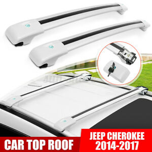 Top Roof Rack Cross Bar Luggage Carrier Anti theft Lock For Jeep Cherokee
