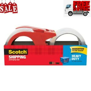 Scotch Heavy Duty Shipping Packaging Tape With Dispenser 2 pack case Of 6