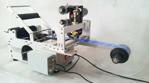 Hbl m103p Hanboo Aut Labeling Machine For Round Bottles With Code Date Batch