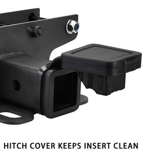 Trailer Tow Hitch Receiver Tube Cover 2 Rubber Plug For Jeep Wrangler Jk Jl