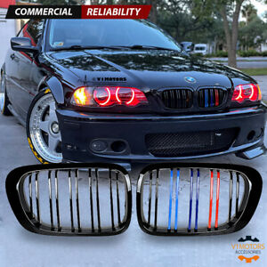 M color Glossy Black Front Kidney Grille Grill For 99 02 Bmw E46 3 Series 325i