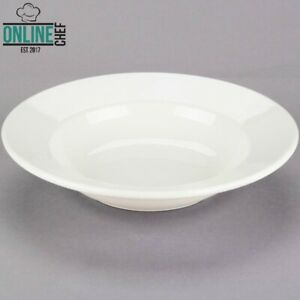 10 Oz Ivory Wide Rim Rolled Edge Soup Pasta Bowls Stoneware Oven Safe 24 case