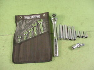 Craftsman Usa 1 2 Drive Ratchet Quick Release Teardrop 44809 sockets 5 Wrench