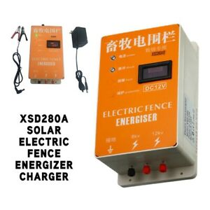 Solar Electric Fence Energizer Charger Animal Raccoon Display Screen 110v 220v
