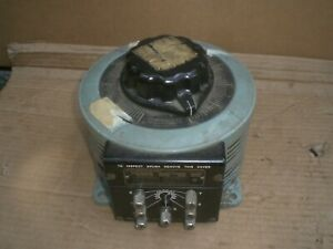 Powerstat Variac 236 9amps Variable Auto Transformer 240 120v 0 280v Output