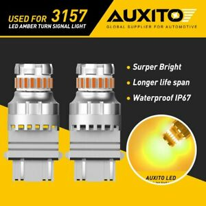 Auxito 3157 3156 3057 Amber 23smd Led Turn Signal Parking Light Bulb Error Free
