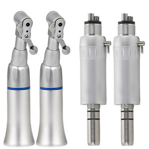 4 X Dental Slow Low Speed Handpiece Contra Angle 4 hole E type Motor